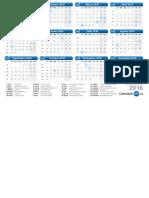 Calendario 2016 & Días festivos 2016 - calendario-2016.pdf.pdf
