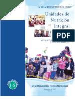 Unidades de Nutrición Integral UNI estructura, organización y funcionamiento