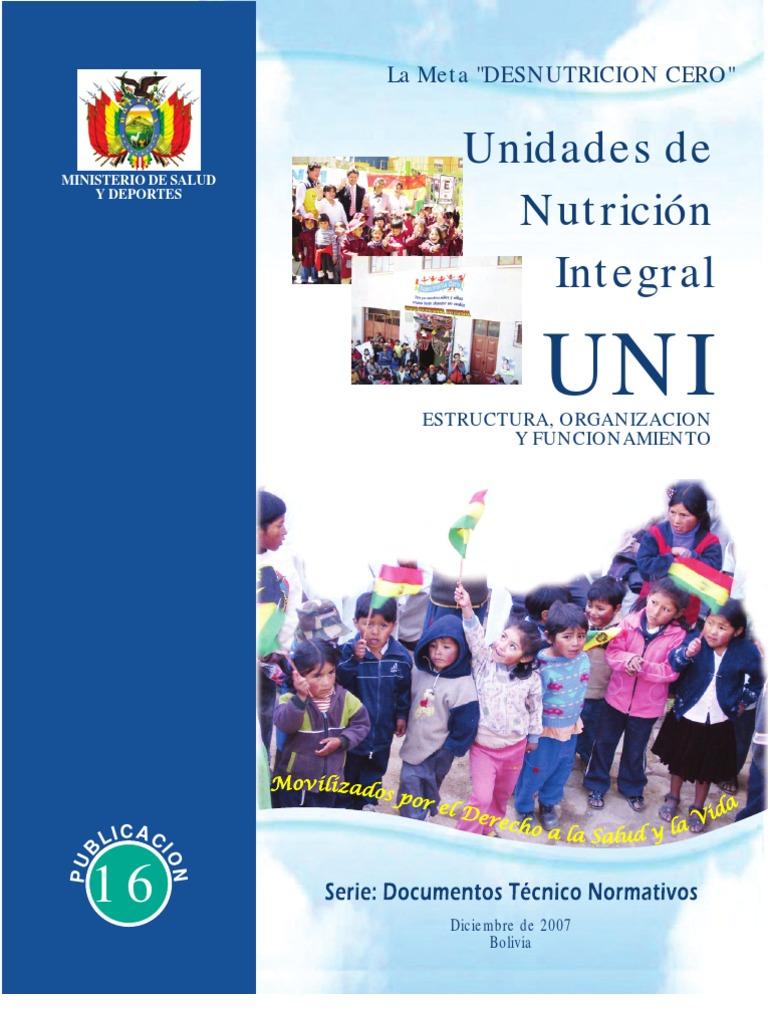Unidades De Nutrici N Integral Uni Estructura Organizaci N Y  # Muebles Para Consultorio Nutricional