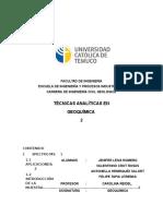 Técnicas Analíticas en Geoquímica