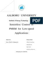 Ped3-934-Sensorless Control of Pmsm for Low Speed Applications Project Report