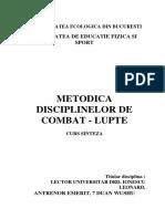 Metodica Disciplinelor de Combat Lupte - Tehnici de Autoaparare