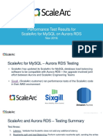 Performance Test Results for Scalearc for Mysql on Aurora Rds
