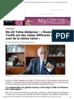 Me Ali Yahia Abdenour_ «Bouteflika et Toufik ont des styles différents mais ils sont de la même veine» _ Info & Actualités depuis 2007.pdf