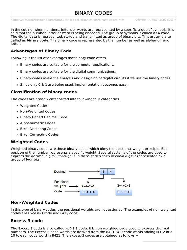 Binary codes binary coded decimal ebcdic biocorpaavc Gallery