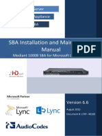 LTRT-40109 Mediant 1000B SBA for Microsoft Lync Server 2010 and 2013 Installation and Maintenance Manual