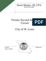 22nd Judicial Circuit Court Audit