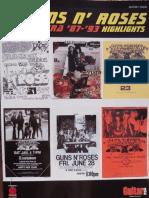 Guns N' Roses - LIVE ERA 87-93 HIGHLIGHTS (Partituras e Tablaturas de Guitarra) - Awcroper