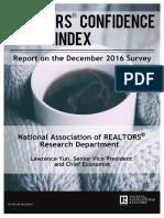 Realtors® Confidence Index December 2016