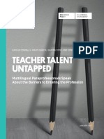 Teacher Talent Untapped