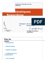 Math Financiere
