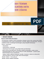 Teknik Pembuatan Akta Badan Usaha ... UNISSULA , 2016