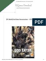 [PC Multi] God Eater Resurrection Game