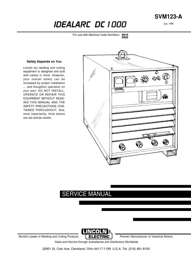 dc1000 service manual | welding | switch  scribd