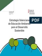 Estrategia Valenciana de Educación Ambiental Para El Desarrollo Sostenible
