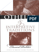 Edward Pechter 'Othello'' and Interpretive Traditions (Studies Theatre Hist & Culture)