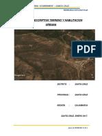 Memoria Descriptiva Del Terreno y Habilitacion Urbana Santa Cruz