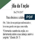 Vigília Da Unção