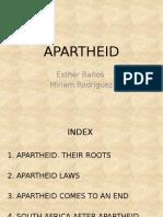 Historia Apartheid en inglés