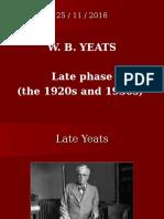3) Irish W.B.YEATS