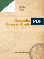 Geografía, Cuerpos Académicos