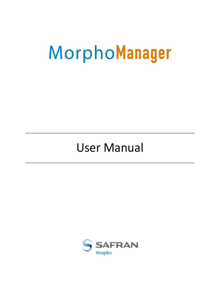 MorphoManager User Manual | Port (Computer Networking