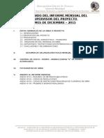 Informe Mensual DEL SUPERVISOR Diciembre 2015