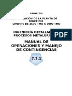 7.3. Manual de Operaciones y Manejo de Contingencias