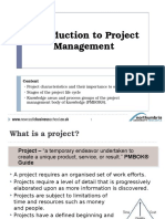 Intro to Project Management Lecture (for NX0473 2015-16)(1)