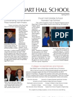 Stuart Hall School Spring Newsletter 2010