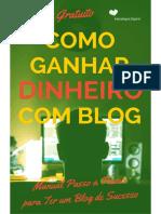 Como Ganhar Dinheiro Com Blog eBook