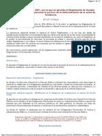 Reglamento Ayudas Acción Social. Junta Andalucia 2001