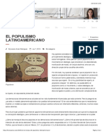 El populismo latinoamericano   Lorena Arraiz Rodríguez