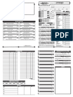 Character Sheet D&D 3.5 - Samurai EUA 2pg