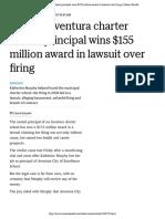 Former Aventura charter school principal wins $155 million award in lawsuit over firing | Miami Herald