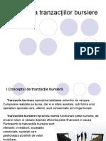 Tipologia tranzacțiilor bursiere