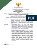 KEPUTUSAN MENTERI TENAGA KERJA DAN TRANSMIGRASI REPUBLIK INDONESIA