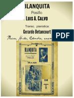 BLANQUITA. Pasillo. Luis A. Calvo. Transc. pianística Gerardo Betancourt.