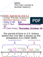 manifest destiny time period