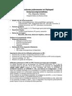 Apunte de Clase Infecciones Pulmonares en HIC_Dra_Valledor