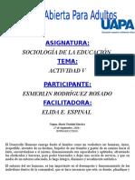 Tarea v Sociologia de La Educacion