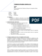 Informe de Prueba Hidraulica YANAMA