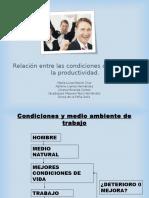 Condiciones y Productividad