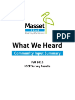 Masset2040 IOCP Community Input Summary (Dec 2016)