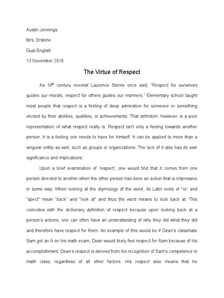 Essay others respect popular personal statement proofreading website for college
