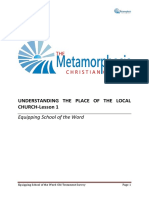 Understanding the Place of the Local Church-lesson 1