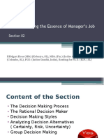 Decision Making the Essence of Manager's Job