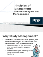 Introduction to Managers and Management