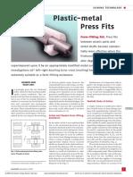 Form-fitting Aid- Plastic-metal Press Fits