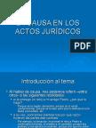 LA CAUSA EN LOS ACTOS JURÍDICOS.ppt